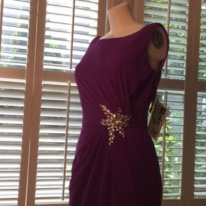Formal Jeweled Purple Gown, never worn